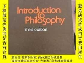 二手書博民逛書店introduction罕見to philosophy 哲學導論Y14530 AVRUM STROLL RI