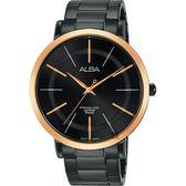 聖誕限定 ALBA雅柏 時尚手錶-鍍黑x玫塊金框/44mm VJ21-X118K(AH8447X1)