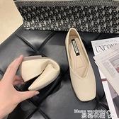 豆豆鞋 2021春季新款平底單鞋女韓版百搭方頭淺口一腳蹬奶奶鞋瓢鞋豆豆鞋【618 購物】