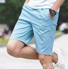 夏季休閒褲男士短褲修身中褲青年沙灘褲運動韓版五分褲子5分潮流 小艾新品