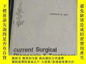 二手書博民逛書店current罕見surgical diagnosis trea