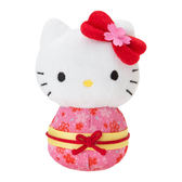 Sanrio HELLO KITTY Q版手心尺寸迷你造型玩偶(新春櫻和服版)★funbox★_371734