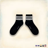 Melek 襪子類 (共5色)【P08161118-0101~05】女中筒襪三條紋款  長襪/襪子/足球襪