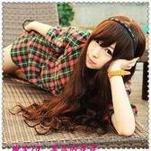 【WASK】 W326 仿真髮捲長髮梨花微卷可齊可斜劉海蓬鬆全頂式高溫耐熱絲假髮