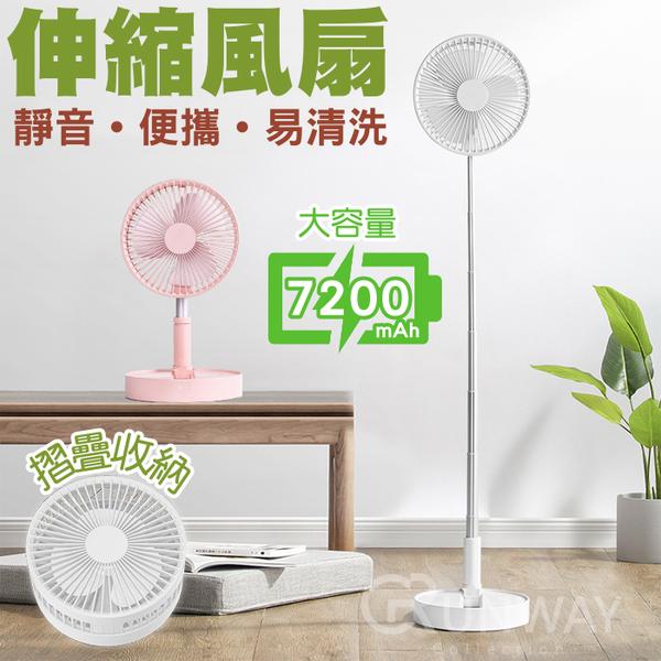 【現貨】伸縮風扇 折疊式USB風扇 桌面落地 靜音 便攜 小電扇 攜帶式電風扇 多功能迷你電扇