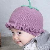 兒童毛線帽新生兒帽子秋冬季0-3-6個月寶寶嬰兒胎帽男女孩公主帽 蘿莉小腳ㄚ