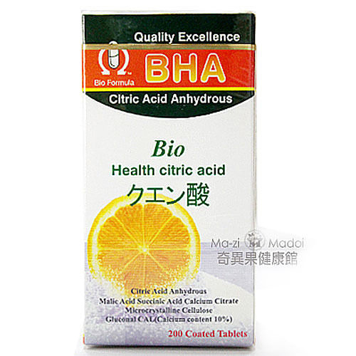 BHA愛酢康錠200粒(Bio Health citric acid)