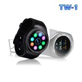 TW-1圓款觸控心率智慧手錶星鑽銀