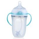 【奇買親子購物網】Nuby Comfort 寬口徑防脹氣矽膠奶瓶 250ml(360度滾珠吸管)