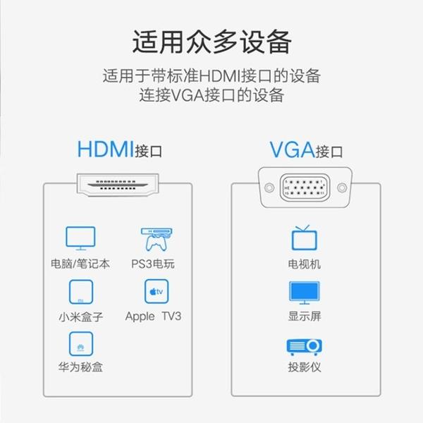 轉接線 hdmi轉vga線vja電腦屏幕連接主機高清數據線vda顯示屏vag轉接頭vgi公頭hami轉換器hd筆記本 夢藝