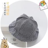 婴儿帽 嬰兒帽子男女寶寶春夏漁夫帽小格子棉布盆帽遮陽帽涼帽3-6-12個月