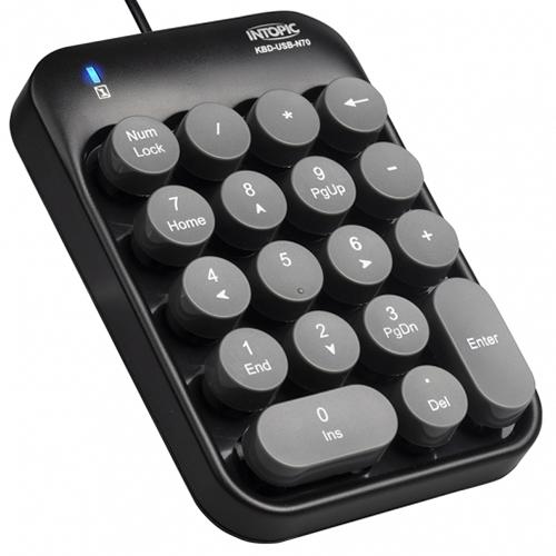 INTOPIC 廣鼎 KBD-N70 USB 打字機數字鍵盤