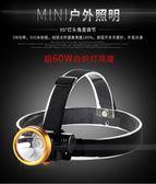 康銘LED強光鋰電頭燈可充電遠射高亮迷你夜釣魚燈礦燈頭戴手電筒