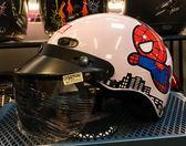 卡通安全帽,CA110,蜘蛛人/白,附抗UV-PC安全鏡片