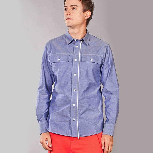 『摩達客』美國LA設計品牌【Suvnir】藍色長袖襯衫(10512082001)