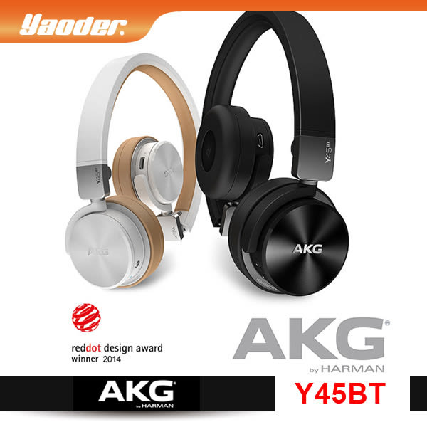 【曜德視聽】AKG Y45BT 黑色 3D轉軸設計 耳罩式耳機 藍芽通話NFC / 免運 / 送硬殼收納盒