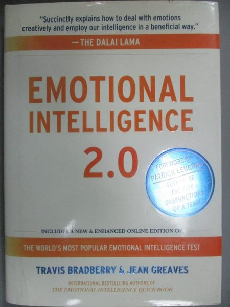 【書寶二手書T1/心理_GBO】Emotional Intelligence 2.0_Bradberry