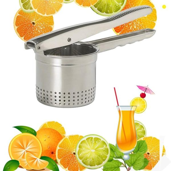 不銹鋼土豆泥壓泥器壓薯器 西瓜榨汁器手動榨汁機 檸檬石榴壓汁器   電購3C