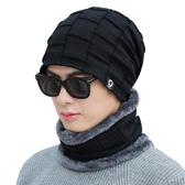 毛線帽男 帽子男冬天保暖正韓潮秋冬季針織毛線帽騎車防風帽防寒加絨棉帽