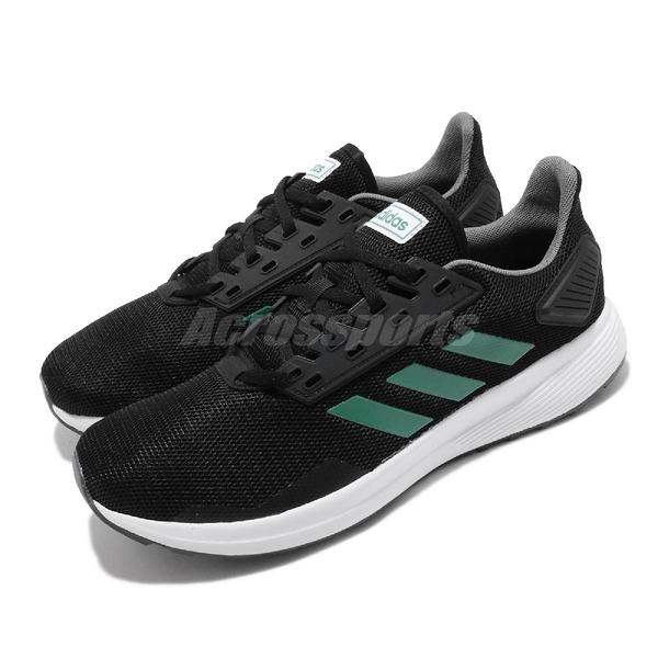 【六折特賣】adidas 慢跑鞋 Duramo 9 黑 綠 男鞋 基本款 運動鞋 【PUMP306】 EE8029
