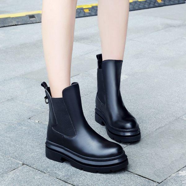 單鞋系帶厚底女單鞋厚底松糕單鞋內增高休閒女鞋潮款   -1092450015