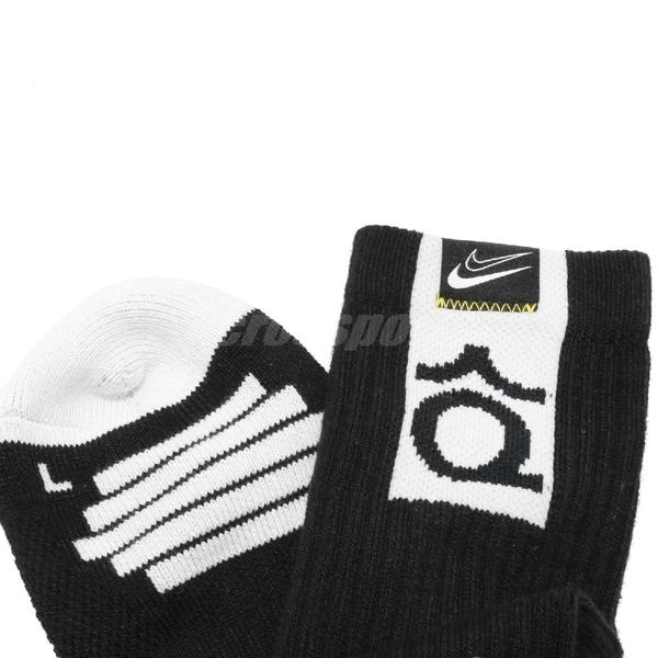 Nike 襪子 Elite Crew Socks Kevin Durant KD 單雙入 黑 長襪 籃球襪 【ACS】 SK0083-010
