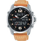 ALBA 指針數位雙顯駝色皮帶錶x44mm N021-X004J AZ4013X1 公司貨|名人鐘錶高雄門市