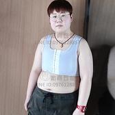 束胸前掛鉤超平透氣束胸衣服短款cosplay大碼運動內衣【貼身日記】
