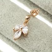 耳環 925純銀鑲鑽-繽紛耀眼生日情人節禮物女耳針2色73gt227【時尚巴黎】