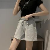 運動短褲女夏季薄款三分褲寬鬆純棉外穿跑步休閒高腰闊腿ins潮 韓國時尚週