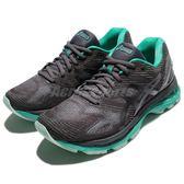 【六折特賣】Asics 慢跑鞋 Gel-Nimbus 19 Lite-Show 灰 綠 透氣穩定 運動鞋 女鞋【PUMP306】T7C8N9590