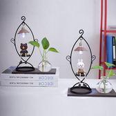 水培花瓶玻璃透明布朗熊可妮兔裝飾品臥室女生日禮物創意家居擺件 my974 【雅居屋】