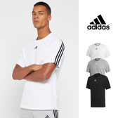 【GT】Adidas 黑灰白 短袖T恤 純棉 運動 休閒  上衣 短T 愛迪達 三條線 Logo EB5277 EB5275 DX7656