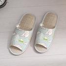 【333家居鞋館】親膚紙蓆 馬卡龍北極熊室內蓆拖鞋-綠