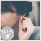 英式優雅小鑽珍珠耳環。韓國配件。SS07...