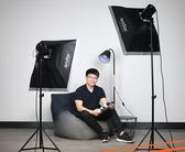 攝影棚 神牛閃光燈200W攝影燈攝影棚套裝攝影棚柔光箱服裝模特拍照柔光棚【美物居家館】