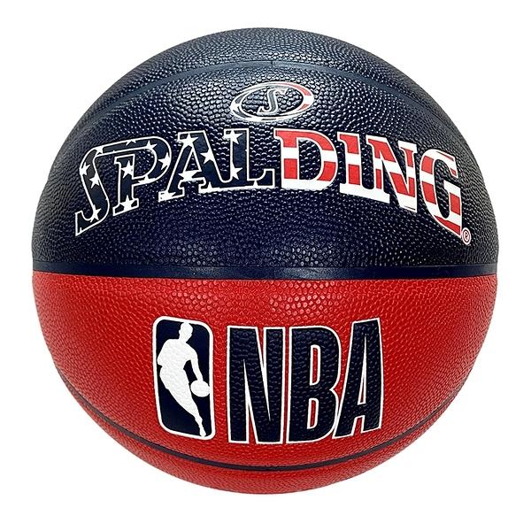 Spalding NBA [SPA76487] 籃球 7號 合成皮 深溝 穩定 手感佳 室內外 美國 國旗 藍紅