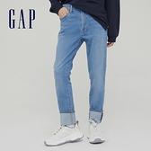 Gap男裝 時尚中腰修身款牛仔褲 742836-淺靛藍