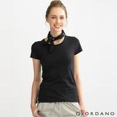 GIORDANO 女裝好感百搭圓領短袖TEE-01 標志黑色