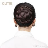 假髪髪包赫本丸子頭髪髻韓版女士盤髪髪圈新娘花苞頭 小確幸