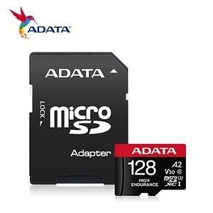 【綠蔭-免運】威剛 High Endurance microSDXC UHS-I U3 A2 V30 128G高耐用記憶卡(附轉卡)