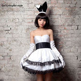 俏皮露肩洋裝四件式兔女郎角色扮演服 性感情趣睡衣蕾絲款 《SV8833》快樂生活網
