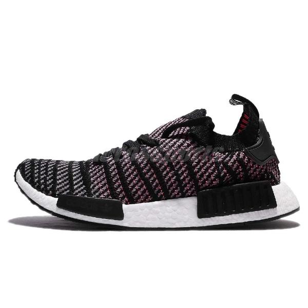 【三折特賣】adidas 休閒鞋 NMD_R1 STLT PK 黑 彩色 女鞋 編織鞋面 襪套式 運動鞋【ACS】 CQ2386