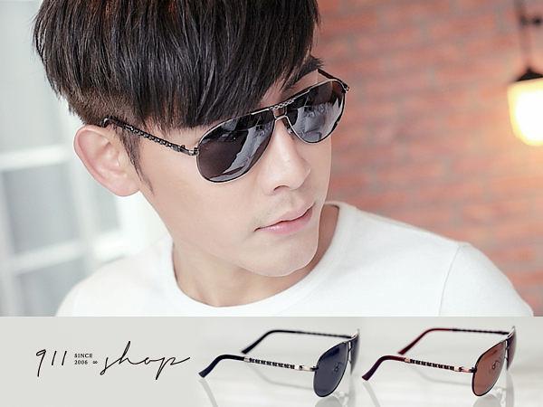 Glint.MIT台灣製。鎖鏈造型腳架橢圓框雷朋偏光太陽眼鏡【f566】*911 SHOP*