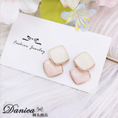 現貨 韓國少女氣質甜美百搭簡約幾何菱形耳環 夾式耳環 S93432 批發價 Danica 韓系飾品