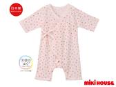 MIKI HOUSE BABY 日本製 彩色星星新生兒紗布衣(粉)