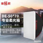 攝影燈 柔光箱250w攝影燈閃光燈柔光罩補光燈箱攝影器材 CP2337【甜心小妮童裝】