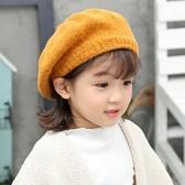 女童貝雷帽秋冬韓國1-3歲女孩公主兒童蓓蕾帽英倫毛線帽寶寶帽子