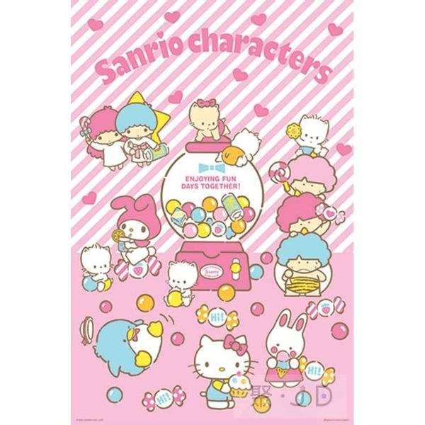 【台製拼圖】HP01000-157三麗鷗系列 - Sanrio characters歡樂扭蛋機 1000 片拼圖