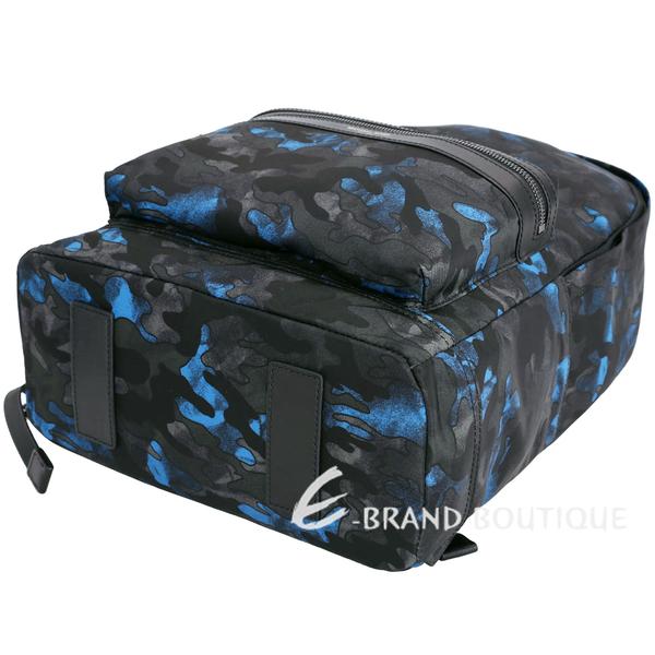Michael Kors Kent Camouflage 迷彩尼龍後背包(黑藍色) 1710311-01